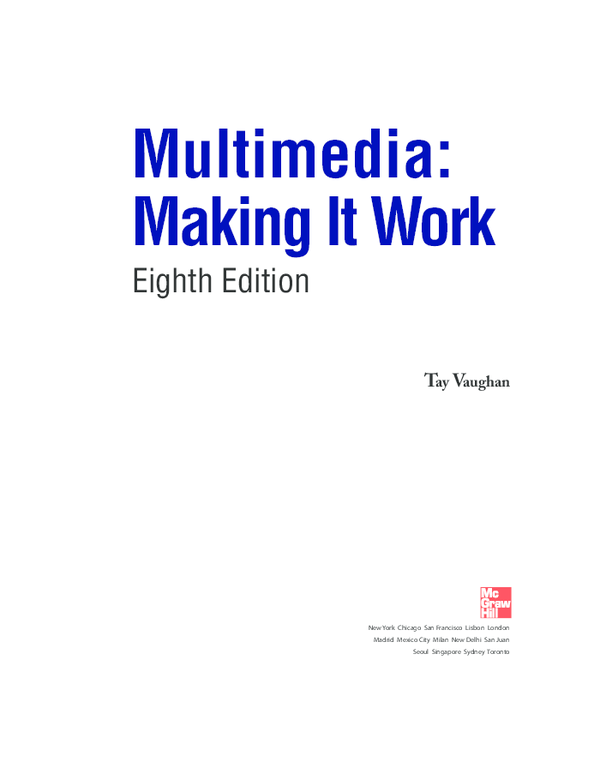 PDF) Multimedia: Making It Work Eighth Edition | ejja