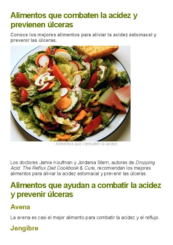 Dieta para evitar la acidez en el embarazo