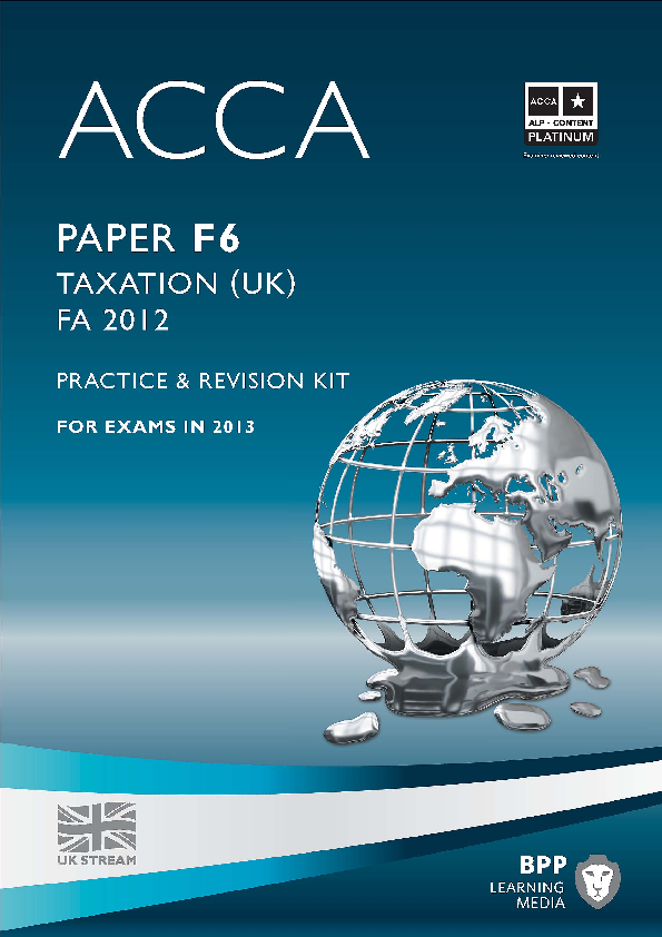 PDF) ACCA F6 - Tax ACCA FA2012 Practice and Revision Kit