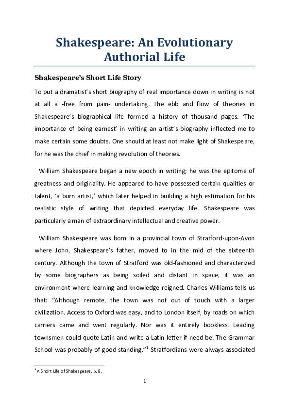 Biography Essay Example Getting