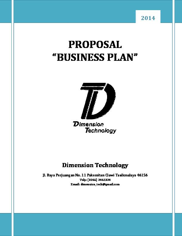 Pdf Contoh Proposal Bisnis 12060011 Deni Kurnia Stt Ybsi Tasikmalaya Deni Kurnia Academia Edu