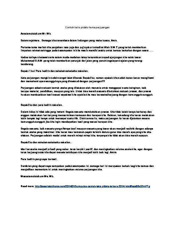 Contoh Pidato Tentang Hari Pahlawan Untuk Anak Sd ...