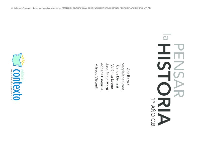PDF) Pensar la HIstoria 1 Cap 1   Miguel Montilla - Academia edu