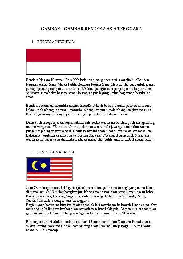 Doc Gambar Gambar Bendera Asia Tenggara Diean Ditta Academiaedu