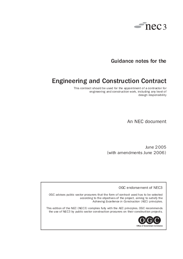 Pdf guidance notes for the engineering and construction for B b contract