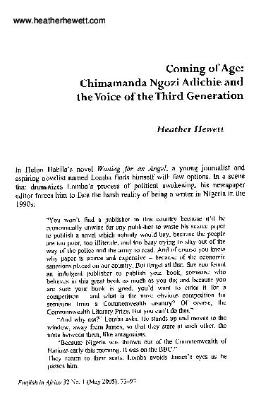 Chimamanda Ngozi Adichie Books Pdf
