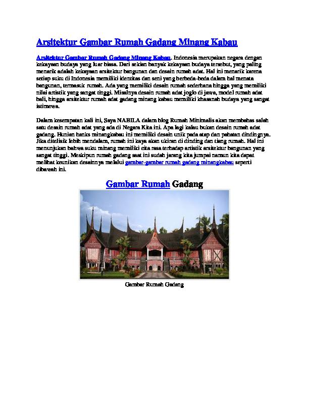 990 Gambar Kerangka Rumah Gadang Terbaru