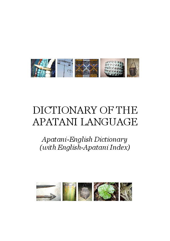 PDF) Dictionary of the Apatani Language | Pascal Bouchery - Academia edu