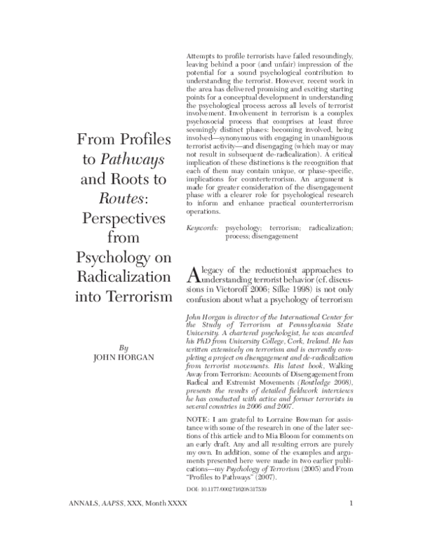 PDF) From Profiles to Pathways and Roots to Routes
