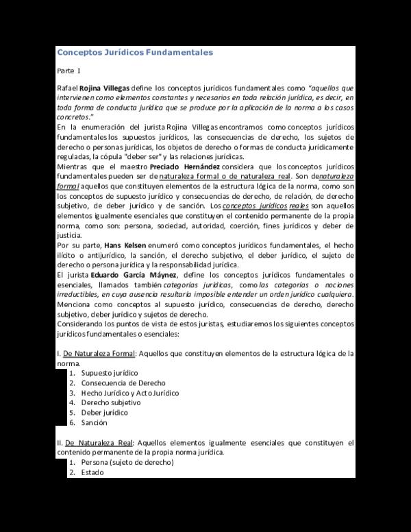 Doc Conceptos Jurídicos Fundamentales Parte I Hector