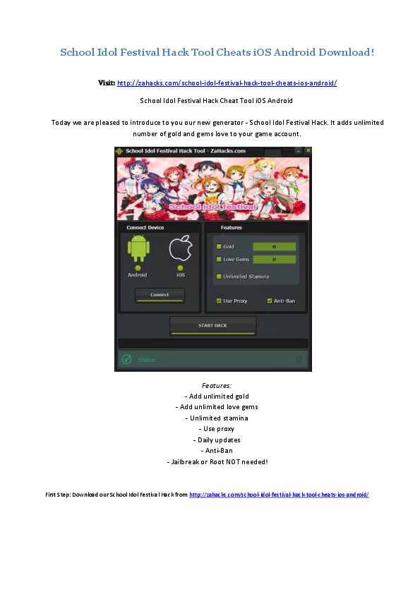 DOC) School Idol Festival Hack Tool Cheats i OS Android