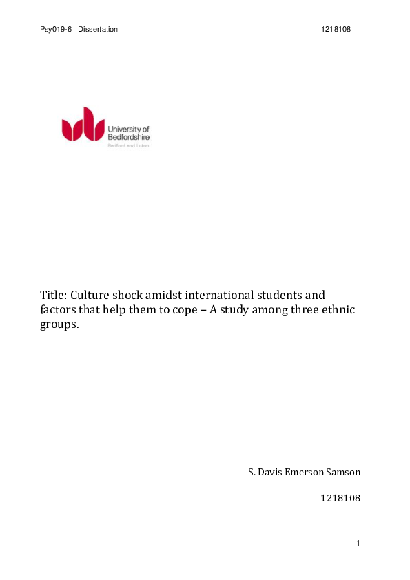 culture shock research