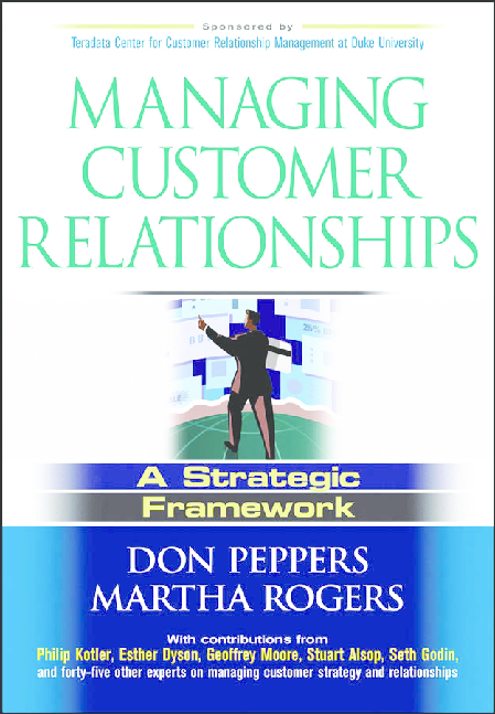 Don Peppers Martha Rogers Managing Customer Relbook Zz Org