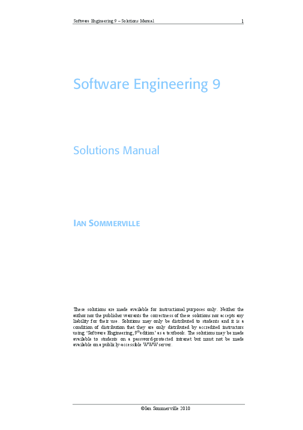software engineering ian sommerville 10th edition free
