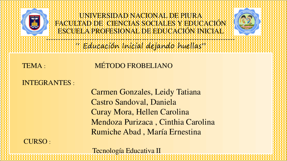 Ppt Metodo Froebeliano Daniela Castro Sandoval Academiaedu