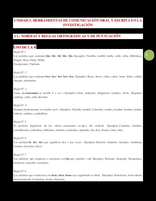 DOC) UNIDAD 3  HERRAMIENTAS DE COMUNICACIÓN ORAL Y ESCRITA