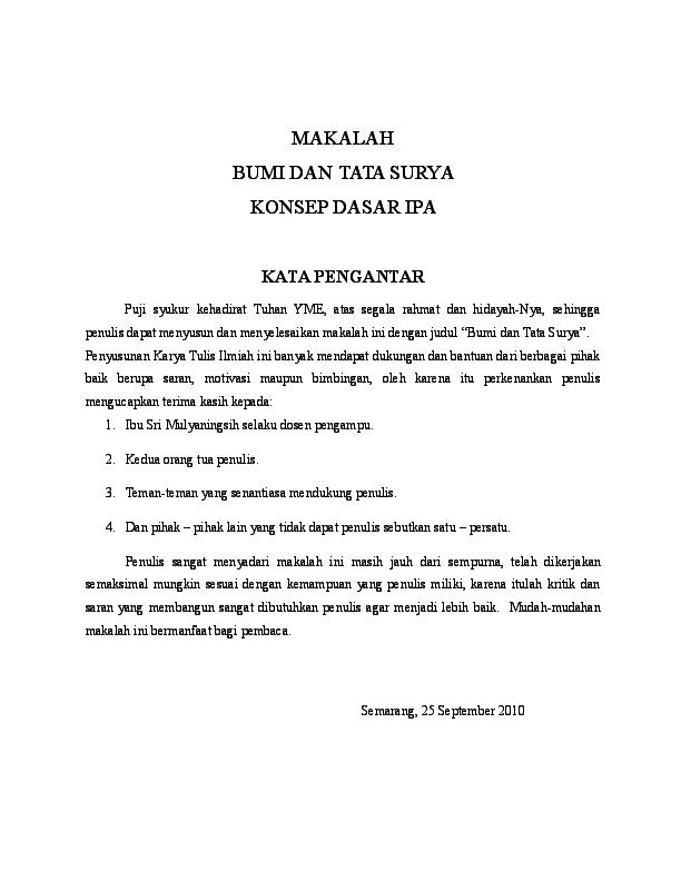 Doc Makalah Ipa Tata Surya Qurrotun A Yun Academia Edu