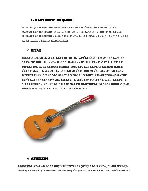 80 Gambar Alat Musik Harmonis