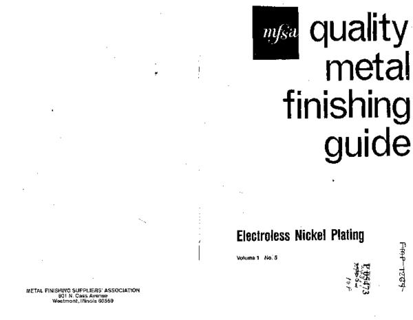 PDF) Electroless Nickel Plating Quality Metal Finishing