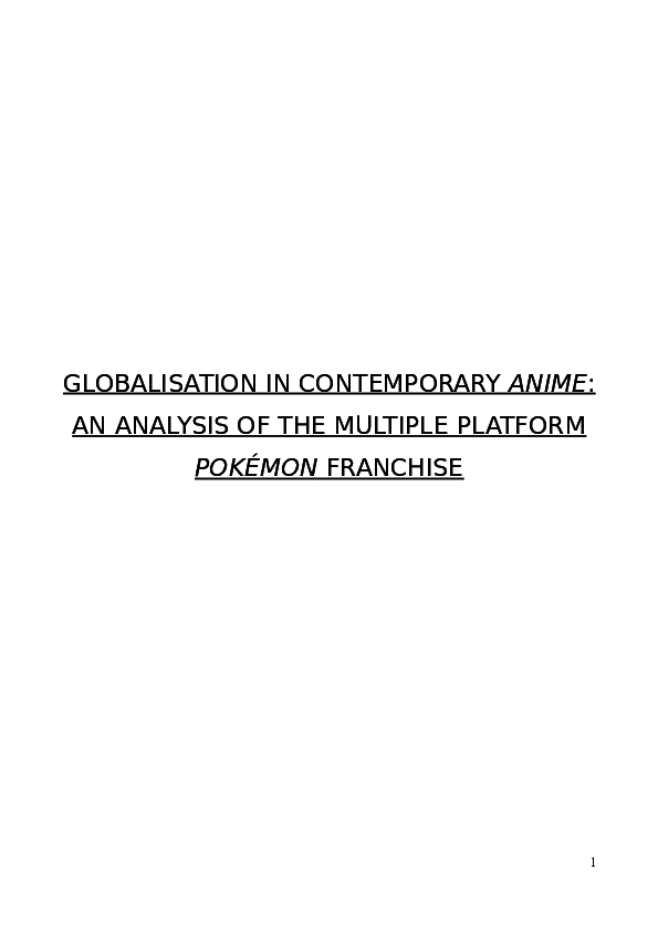 DOC) Globalisation in Contemporary Anime: An Analysis of the