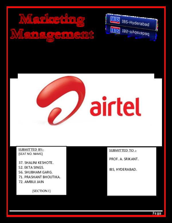 DOC) AIRTEL MM PROJECT FINAL | puneet dhaliwal - Academia edu