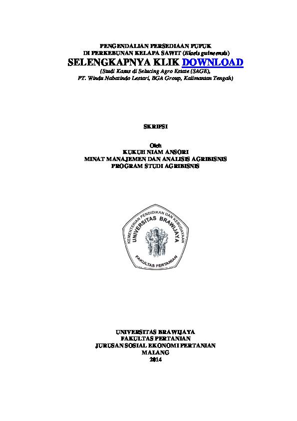 Pdf Skripsi Pengendalian Persediaan Pupuk Kukuh Niam Ansori Academia Edu