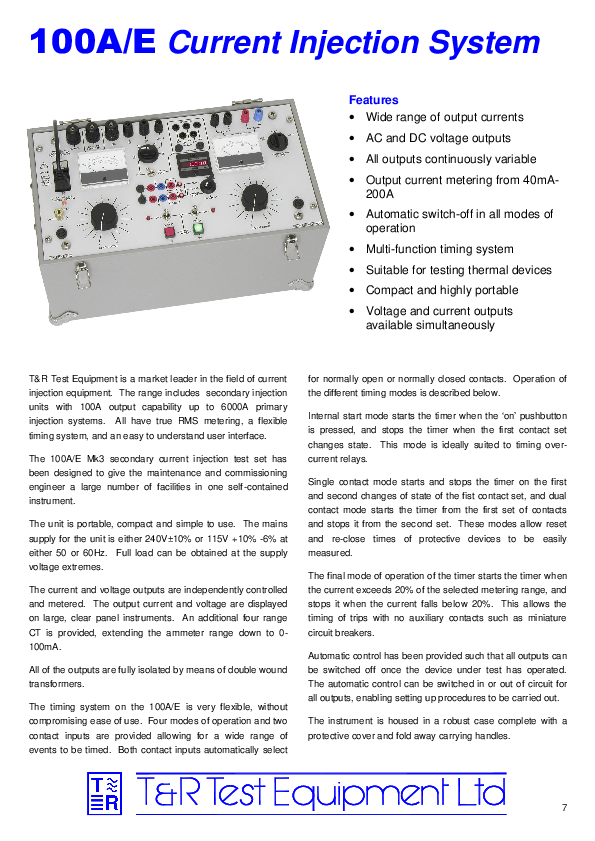 PDF) 100A/E Current Injection System | TỔ CT-HD - Academia edu
