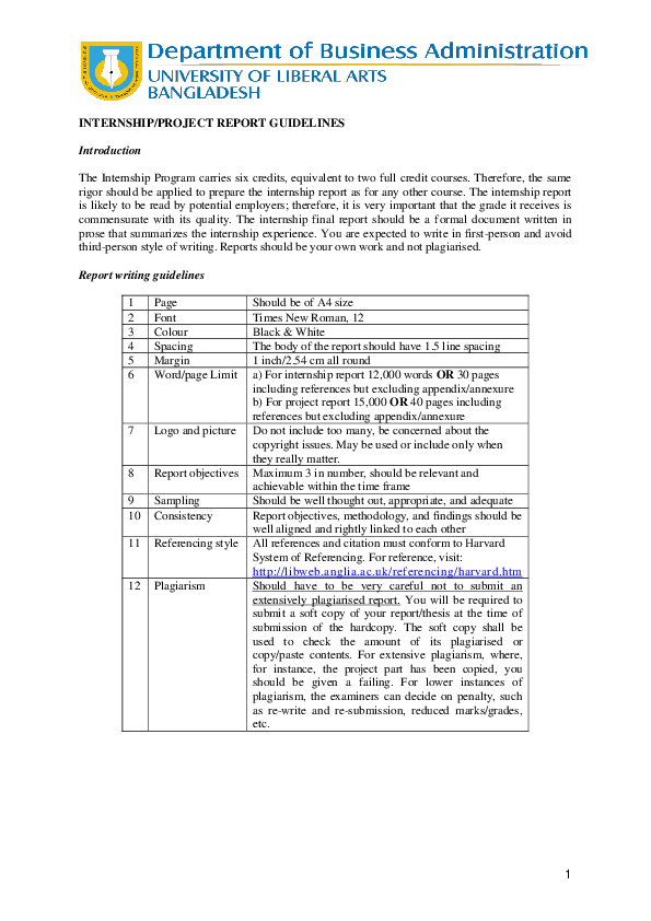 DOC) INTERNSHIP/PROJECT REPORT GUIDELINES Introduction | RK