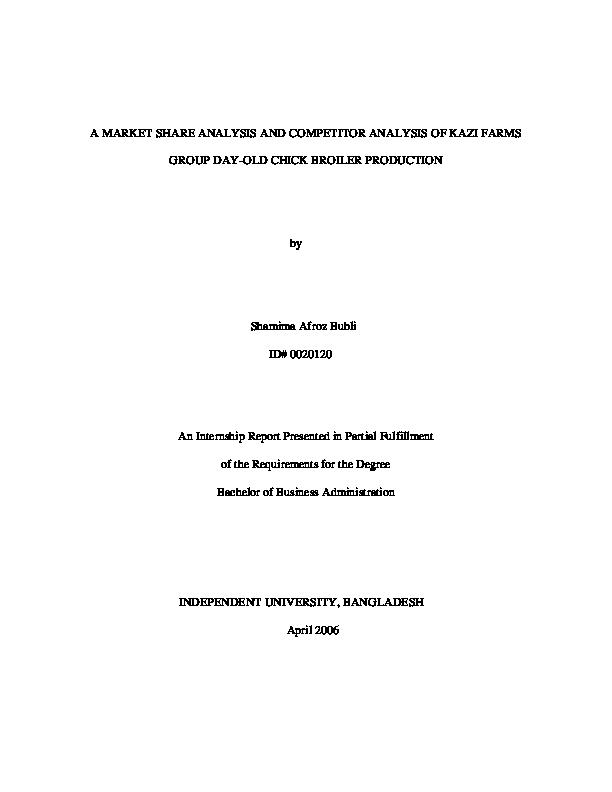 PDF) A MARKET SHARE ANALYSIS AND COMPETITOR ANALYSIS OF KAZI
