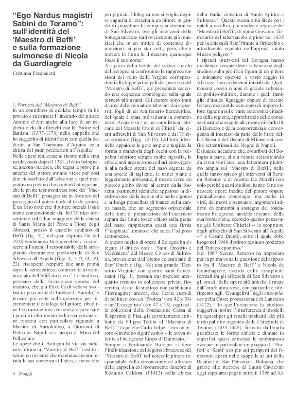 """PDF) """"Ego Nardus magistri Sabini de Teramo"""": sull'identità"""