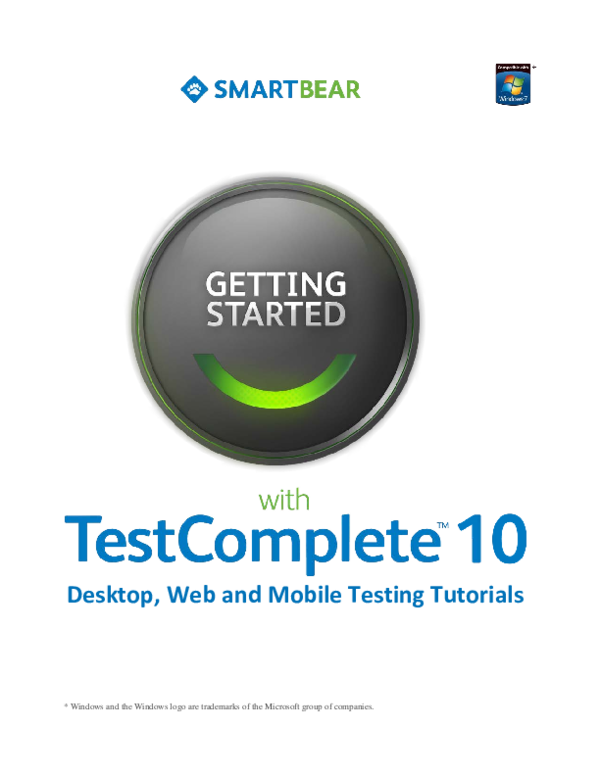 PDF) Getting started with testcomplete | Arvind Patel