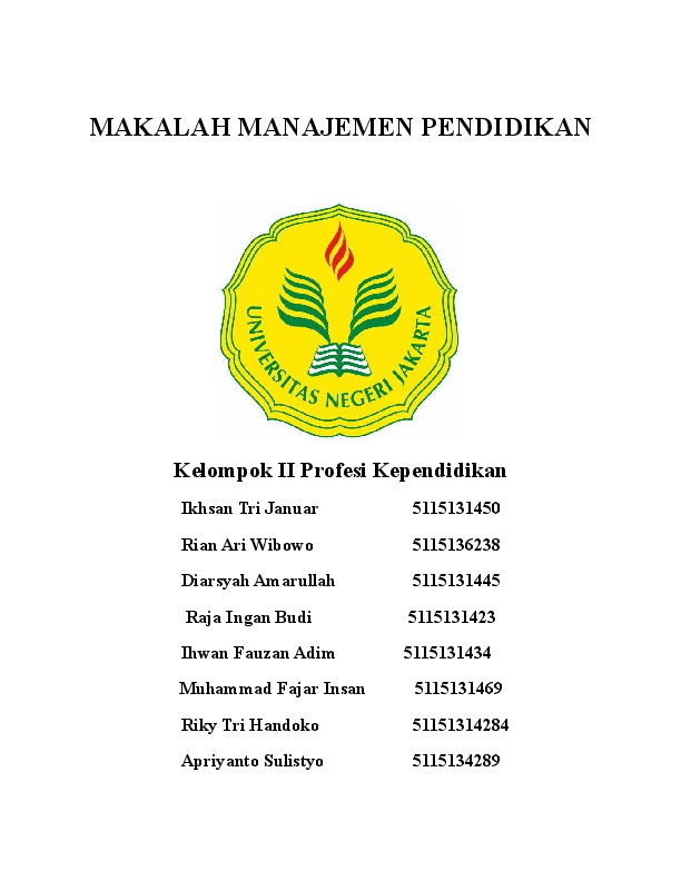 Doc Makalah Manajemen Pendidikan Ikhsan Tri Januar Academia Edu