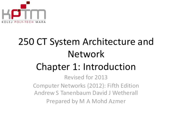 PPT) System Architecture And Network | Haziq Faiz - Academia edu