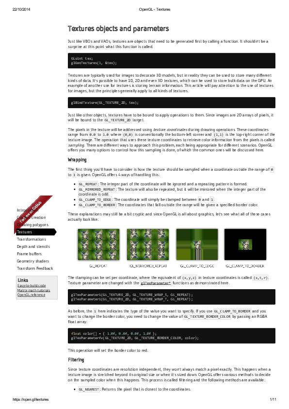 PDF) Open GL Textures | Joel Oliveira - Academia edu