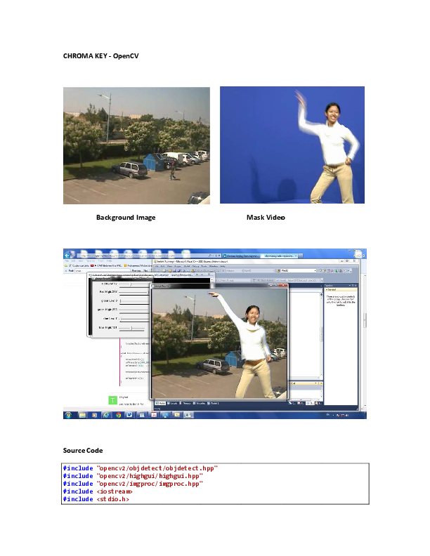 PDF) Chroma Key Green Screen Background - OpenCV | Mobin Idrees