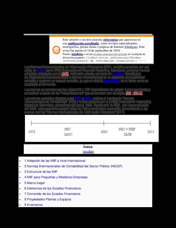 Doc Normas Internacionales De Informacion Financiera