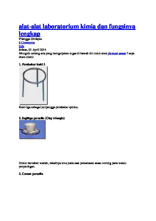 Alat Lab Kimia Haswandi Arif Academiaedu