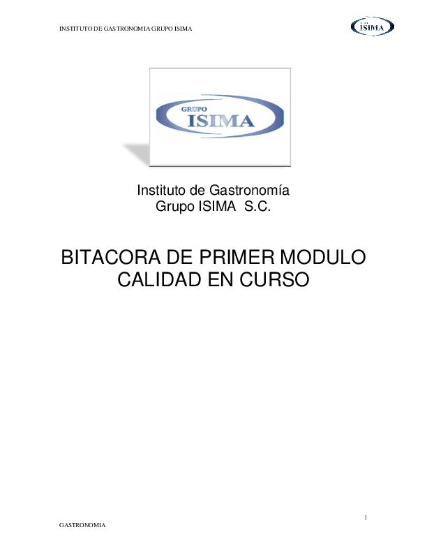 PDF) INSTITUTO DE GASTRONOMIA GRUPO ISIMA 1 GASTRONOMIA | César Arteaga -  Academia.edu