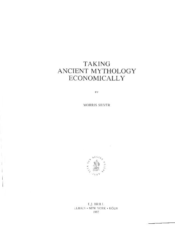 Taking Ancient Mythology Economically | Morris Silver