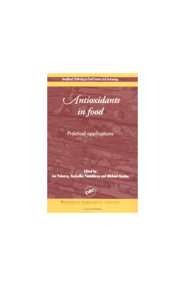 PDF) Antioxidants in Food | Ghufran Ahmed Goraya - Academia edu
