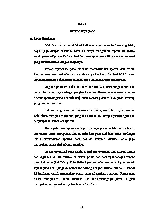 Doc Bab I Gangguan Sistem Reproduksi Joe Irawan Academia Edu