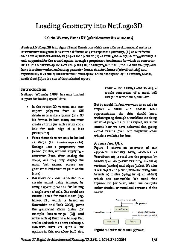 PDF) Loading Geometry into NetLogo3D   Gabriel Wurzer
