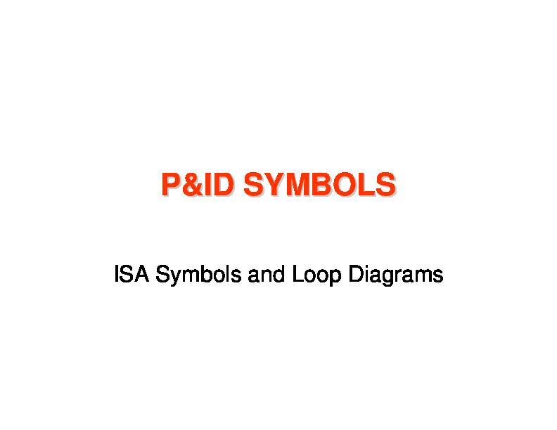 P U0026id Symbols P U0026id Symbols Isa Symbols And Loop Diagrams