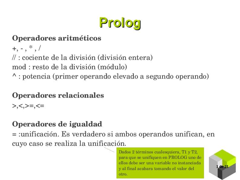 PDF) Prolog Operadores aritméticos | harry gutierrez