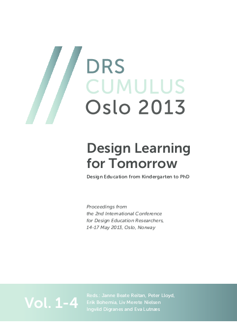 Pdf Design Education From Kindergarten To Phd Design Learning For Tomorrow Proceedings Of The 2nd International Conference For Design Education Researchers Vol 1 Erik Bohemia Academia Edu