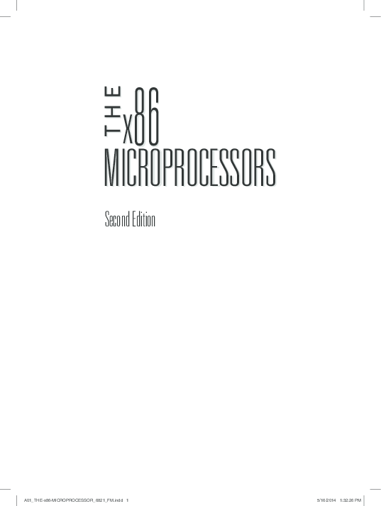 PDF) The x86 Microprocessors (Second Edition)8086 to Pentium