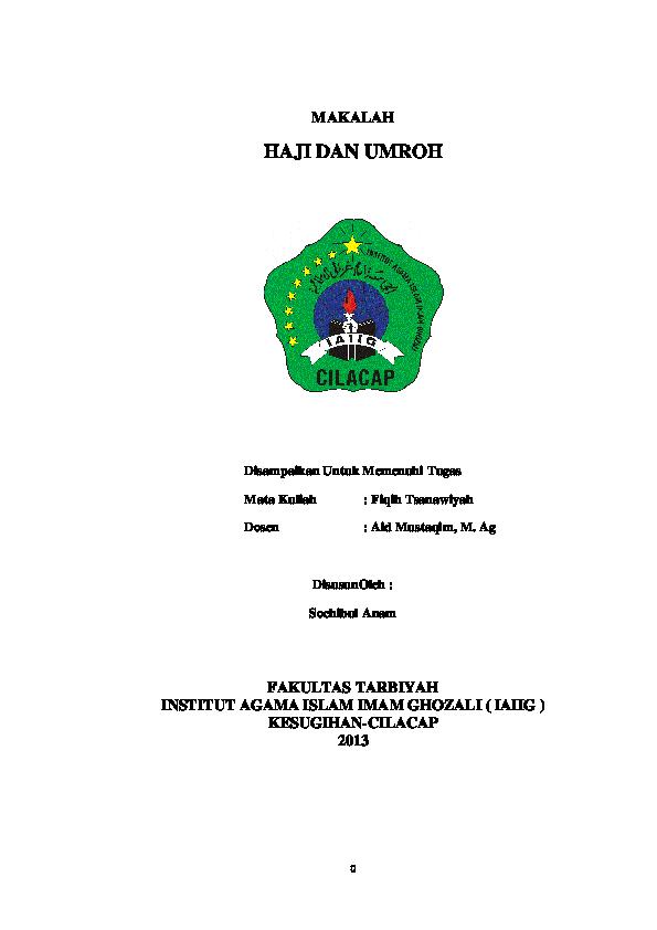 Doc Makalah Haji Dan Umroh Ibul Oi Academia Edu