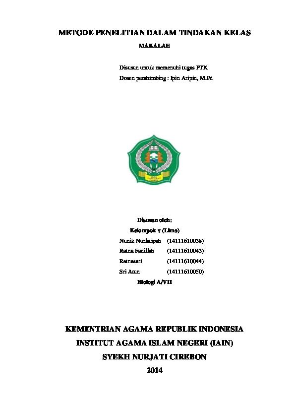 (DOC) Makalah PTK KELOMPOK 5 | Ratnasari Ratnasari ...