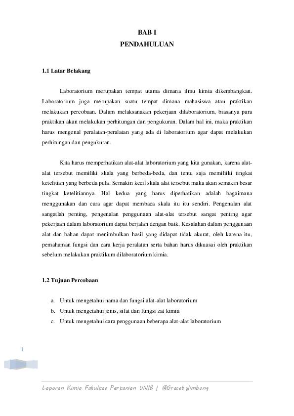 Doc Laporan Praktikum Kimia Alat Alat Laboratorium Graceby Limbong Academia Edu