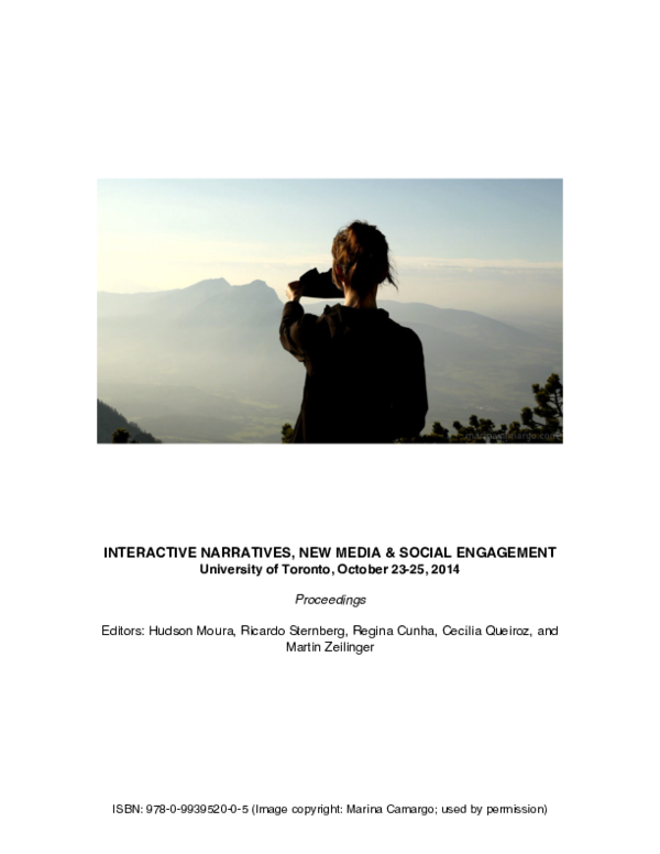 Pdf Proceedings Of Interactive Narratives New Media And Social Engagement International Conference Hudson Moura Academia Edu